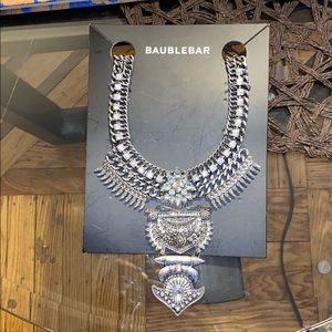 BaubleBar Silver Statement Necklace